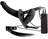 Dvojitý strap-on s vibracemi Double Thruster