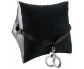 Černý nafukovací polštář s popruhem a pouty