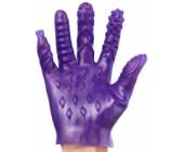 Fialová masturbační rukavice se stimulačními výstupky