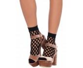 Černé ponožky s velkými oky