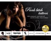 Sada dočasných erotických tetování Punk Bitch