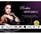 Sada dočasných erotických tetování Rocker Chick