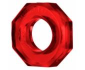 Červený průhledný erekční kroužek Humpballs