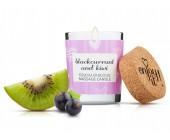 Afrodiziakální masážní svíčka MAGNETIFICO blackcurrant and kiwi