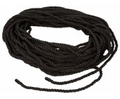 Černé lesklé lano na bondage Scandal