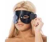 Kožená maska na oči s odnímatelnými klapkami
