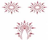 Samolepicí ozdoby na bradavky a vaginu červené
