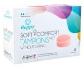 Menstruační vlhčené tampony Beppy WET 8 ks