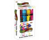 Slíbatelný bodypainting Bodylicious Body Pens 4 příchutě (4 x 55 g)