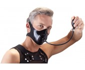 Latexová maska/roubík s nafukovacím dildem LateX