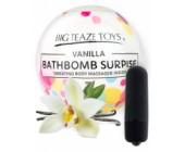 Bomba do koupele s vibrační patronou Surprise s vůní vanilky
