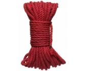 Červené konopné lano na bondage Hogtied Bind & Tie 15 m