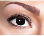 Krycí černé kontaktní čočky Black Witch