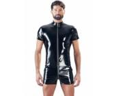 Lakovaný pánský overal s krátkými rukávy a nohavicemi Black Level