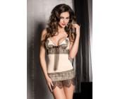 Luxusní erotické šatičky Samara béžová