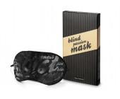 Černá maska na oči z měkkého materiálu černá