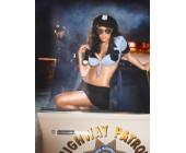 Erotický kostým sexy policistka modročerná