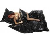 Vinylový povlak na deku s lakovaným povrchem lesklá černá