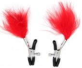 Skřipce na bradavky s červenými peříčky