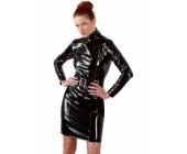 Lesklé lakované erotické šaty Black Level černá