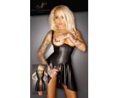 Lesklé erotické minišaty s asymetrickou sukní