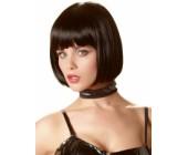 Krátká černá paruka Mia mikádo s ofinou