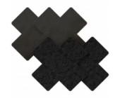 Samolepící ozdoby na bradavky ve tvaru křížků