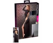Dlouhé sexy černé šaty Cottelli Collection