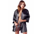 Luxusní dámské saténové kimono krátký střih