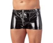 Lakované pánské boxerky se zipem Black Level