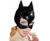 Černá lakovaná maska s kočičíma ušima