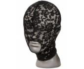 Černá krajková maska na hlavu Scandal