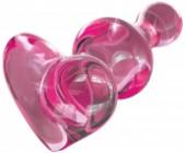 Růžový skleněný anální kolík ICICLES No. 75