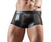 Černá pánské erotické boxerky průsvitné
