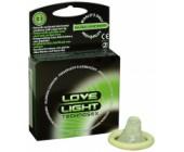 Svítící kondomy (3 ks) Love Light Technosex