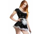 Černobílý lakovaný erotický kostým Servírka