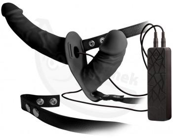 Fotka 1 - Dvojitý strap-on s vibracemi Double Thruster