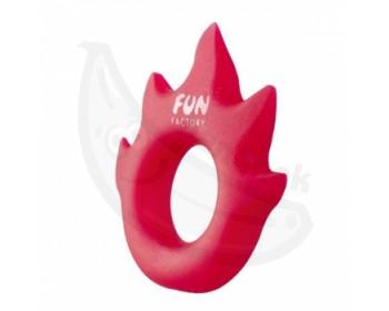 Fotka 1 - Fun Factory Lovering Flame erekční kroužek červený