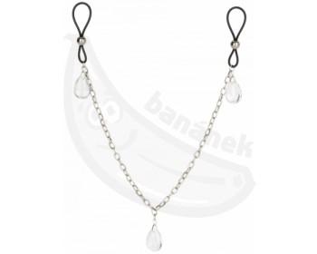 Fotka 1 - Šperk na bradavky s řetízkem CRYSTAL