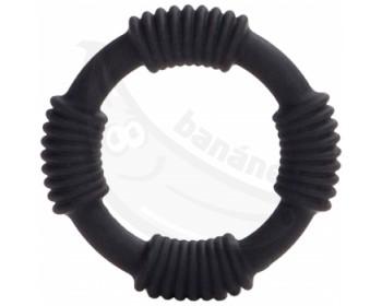 Fotka 1 - Černý silikonový erekční kroužek Hercules