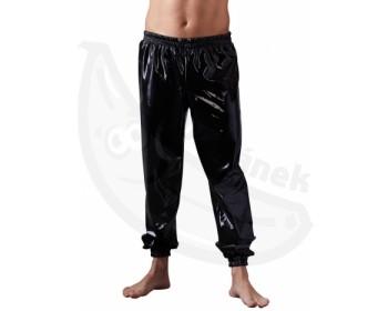 Fotka 1 - Černé ležérní latexové kalhoty pro milovníky adultbaby