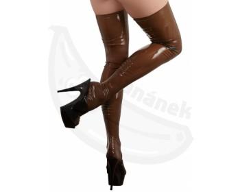 Fotka 1 - Průsvitné latexové punčochy pro vyznavače footfetishe