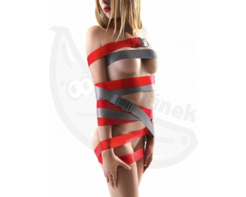 Fotka 1 - Šedé bondage popruhy Strap-Ease XL