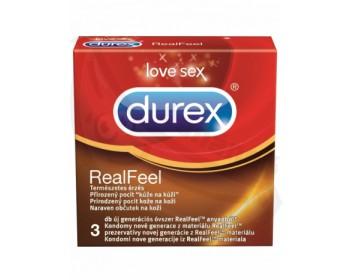 Fotka 1 - Kondomy bez latexu Durex Real Feel 3 ks