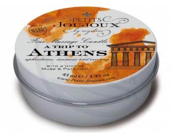 Fotka 1 - Masážní svíčka A Trip To Athens s vůni mošusu a pačuli