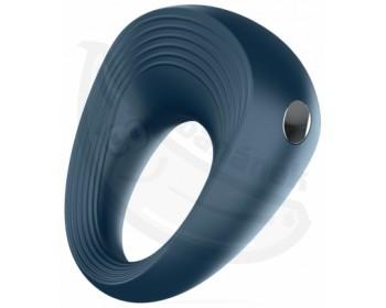 Fotka 1 - Modrý vibrační erekční kroužek na penis Vibro-Ring 2