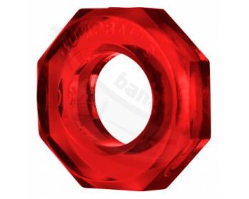 Fotka 1 - Červený průhledný erekční kroužek Humpballs