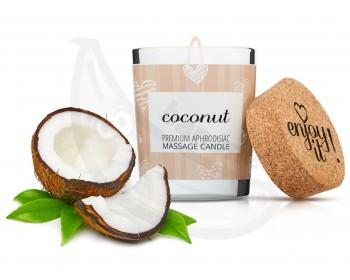 Fotka 1 - Afrodiziakální masážní svíčka MAGNETIFICO coconut
