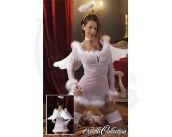 Fotka 1 - Kostým sexy andílek Cottelli Collection bílý