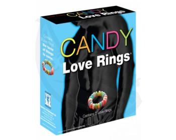 Fotka 1 - Kroužky na penis z bonbónů Candy Love Rings 3 ks